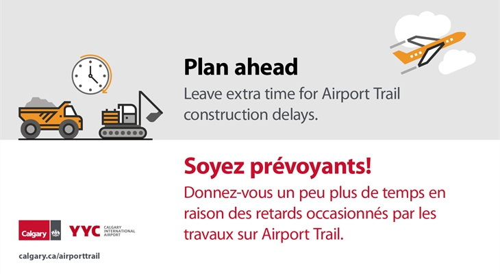 Airport Trail Improvements at YYC // Améliorations sur Airport Trail à YYC