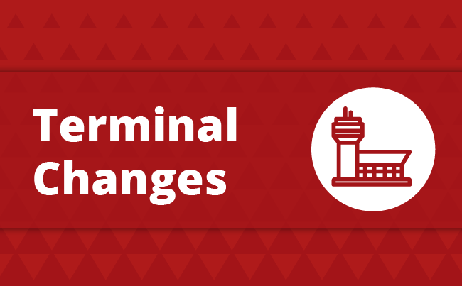 Icon that says terminal changes