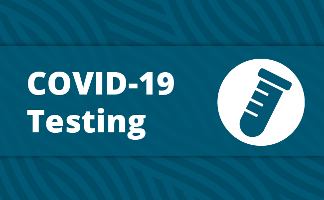 Icon that says Covid-19 Testing